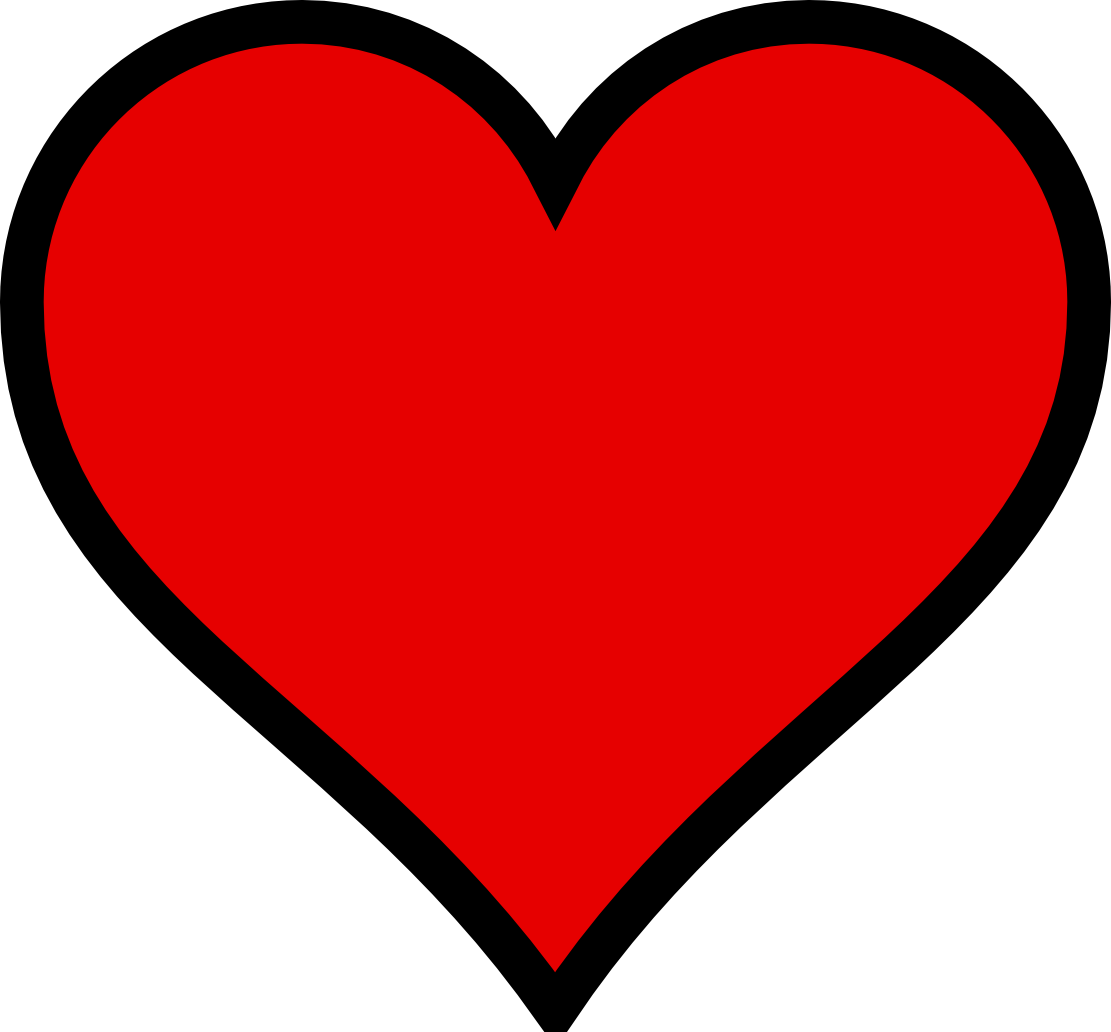 Clip Art Black Heart | Clipart - 42.3KB