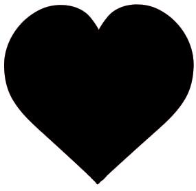 clip art black heart black valentine heart clipart
