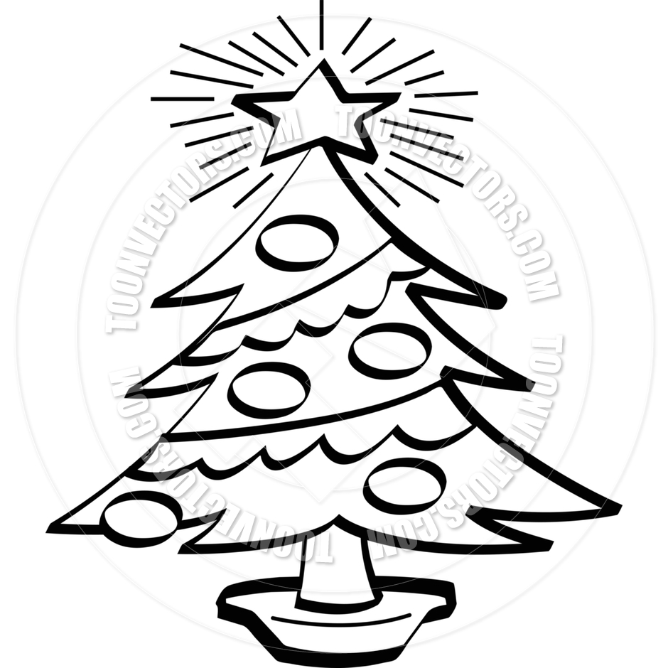 clip art christmas tree black and white clipart panda free
