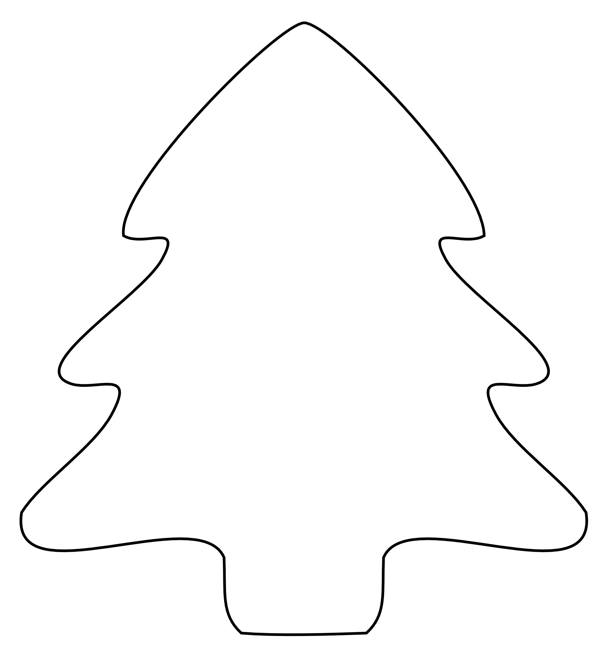 ... Christmas Tree Black And White | Clipart Panda - Free Clipart Images
