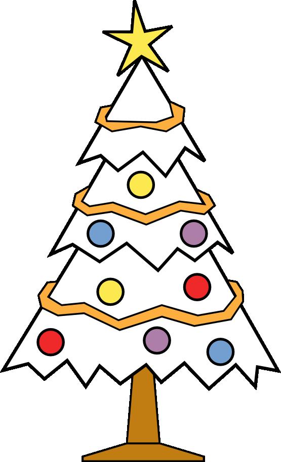 Clip Art Christmas Tree Black And White Clipart Panda