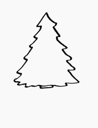 Clip Art Christmas Tree Outline