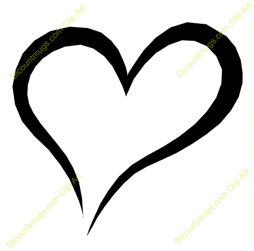 Attractive Clip Art Heart Outline