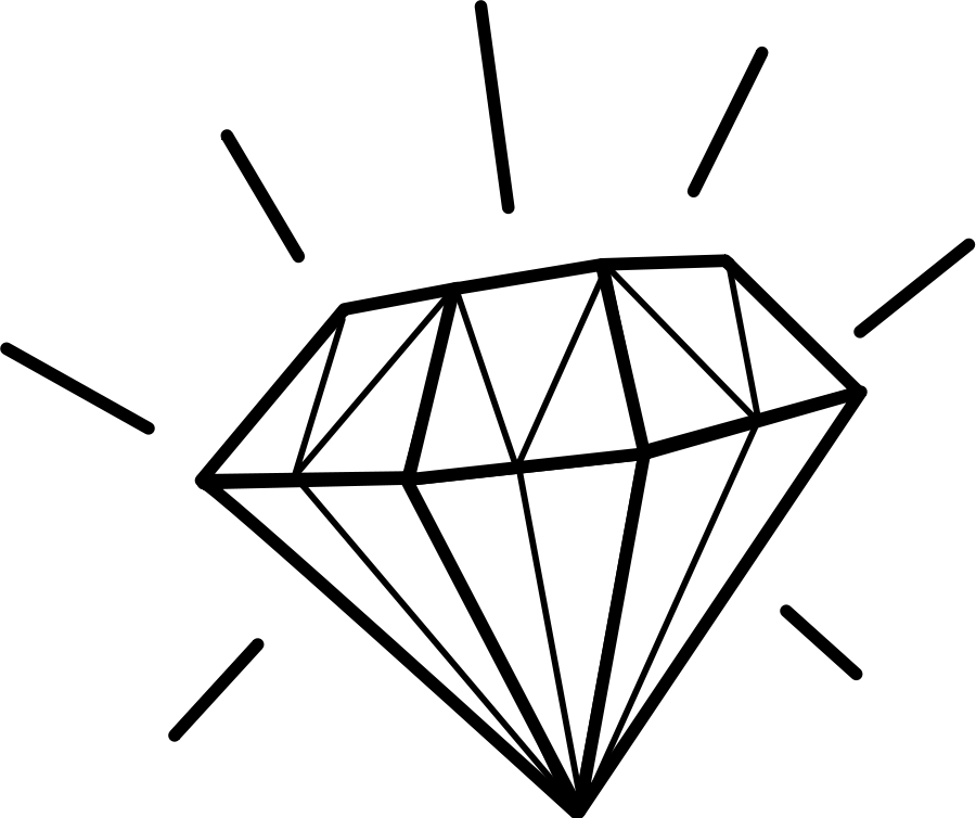Diamond Clipart Black And White | Clipart Panda - Free ...