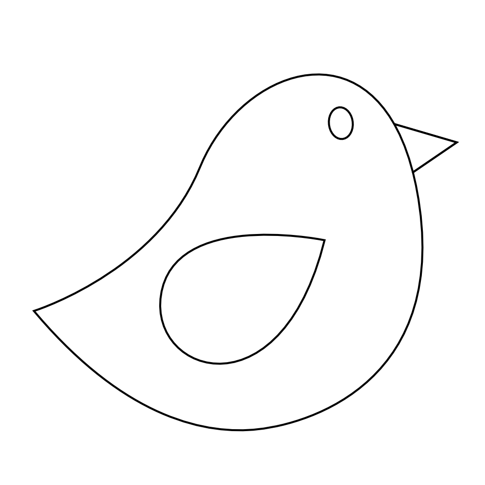 Clipart Of Birds Black And White: Clipart Bird Black And White