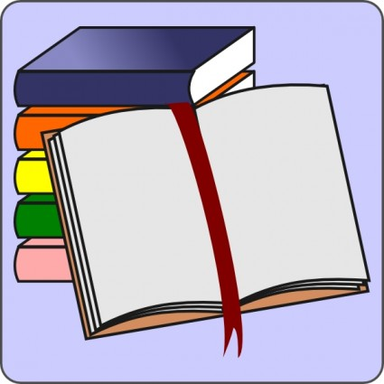 Books open. Book clip art template