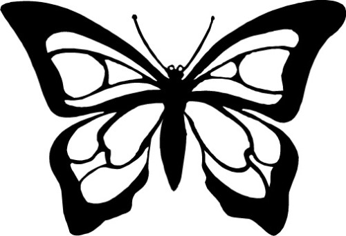 Butterfly clip art black and clipart panda free clipart images - Design art black and white ...