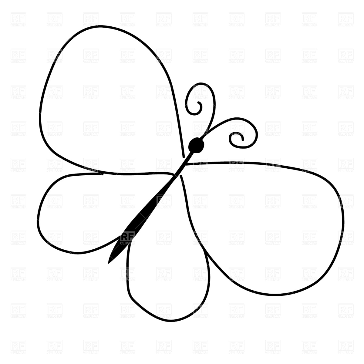 clipart butterfly outline butterfly Download Royalty free Vector File