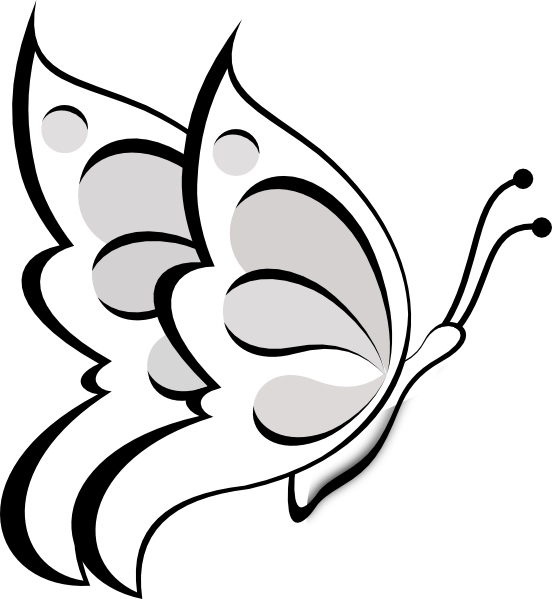 clipart20butterfly20outline