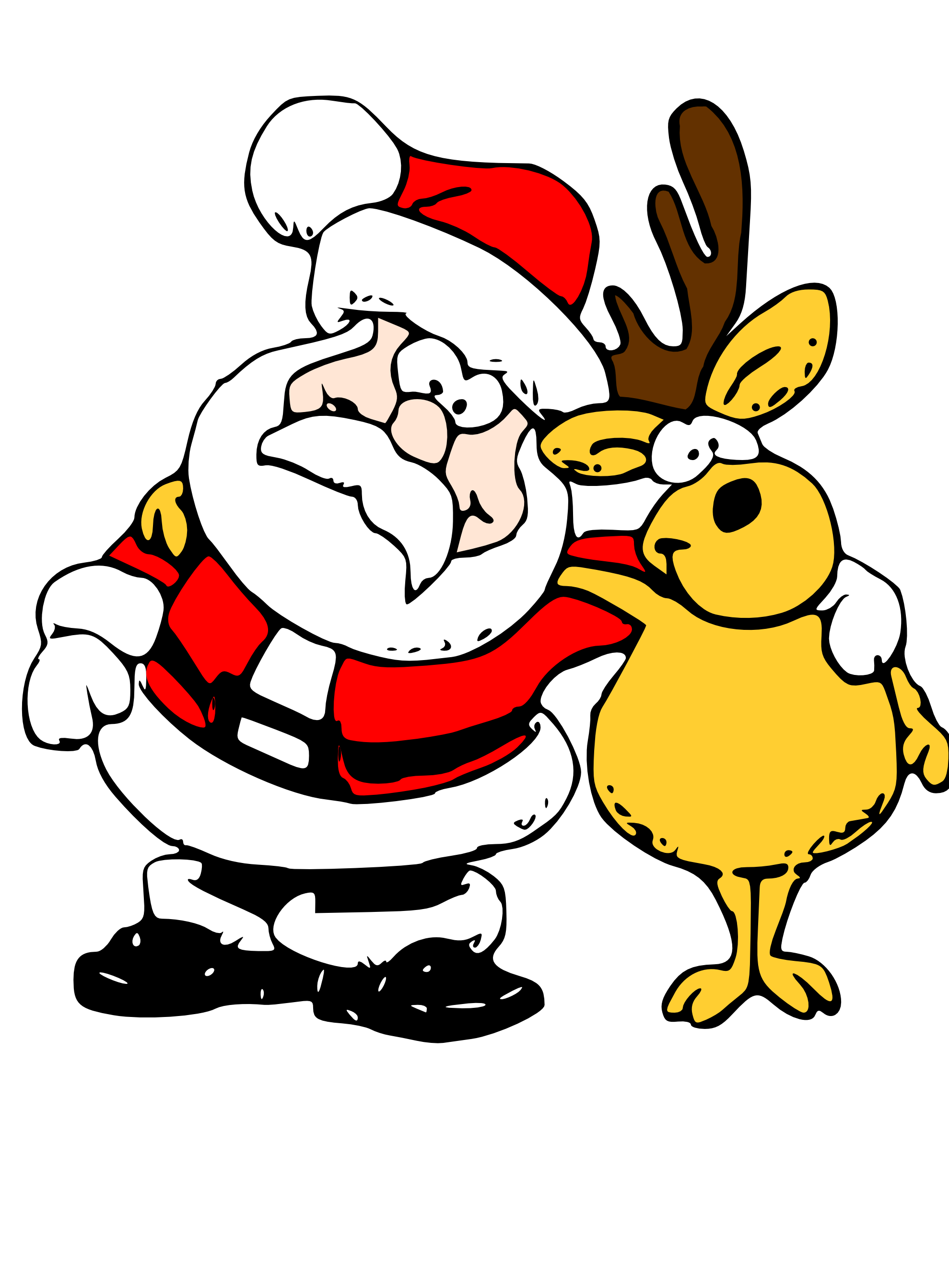 Clip Art: Santa and Reindeer | Clipart Panda - Free Clipart Images