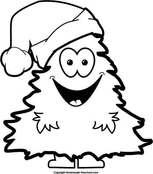 Free Christmas Clip Art Black And White | Clipart Panda - Free ...
