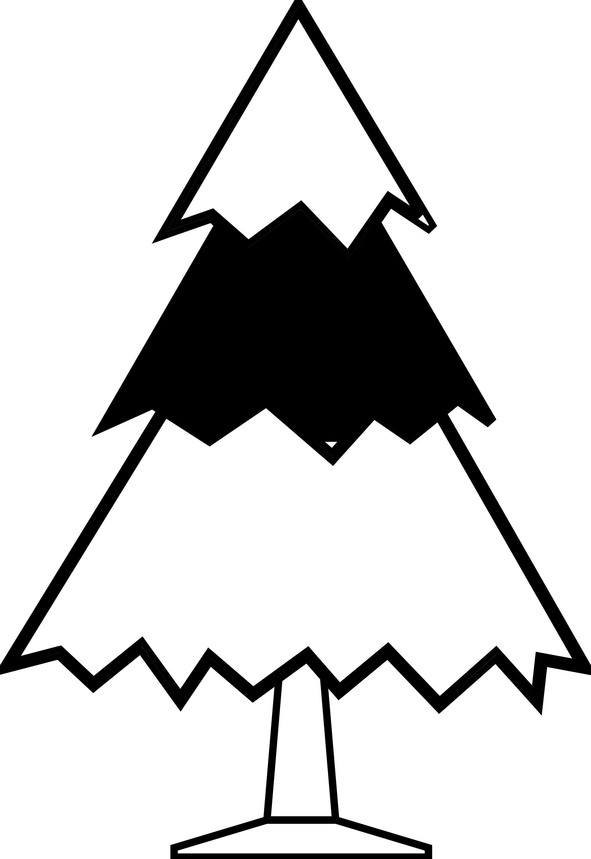 clipart christmas tree black white clipart panda free clipart