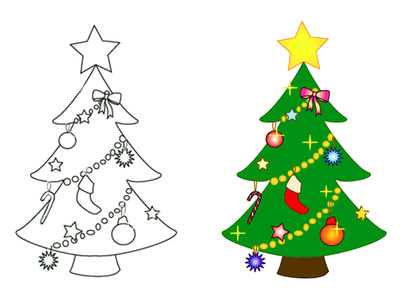 clipart%20christmas%20tree%20outline - Clipart Christmas Tree Outline Clipart Panda - Free Clipart Images