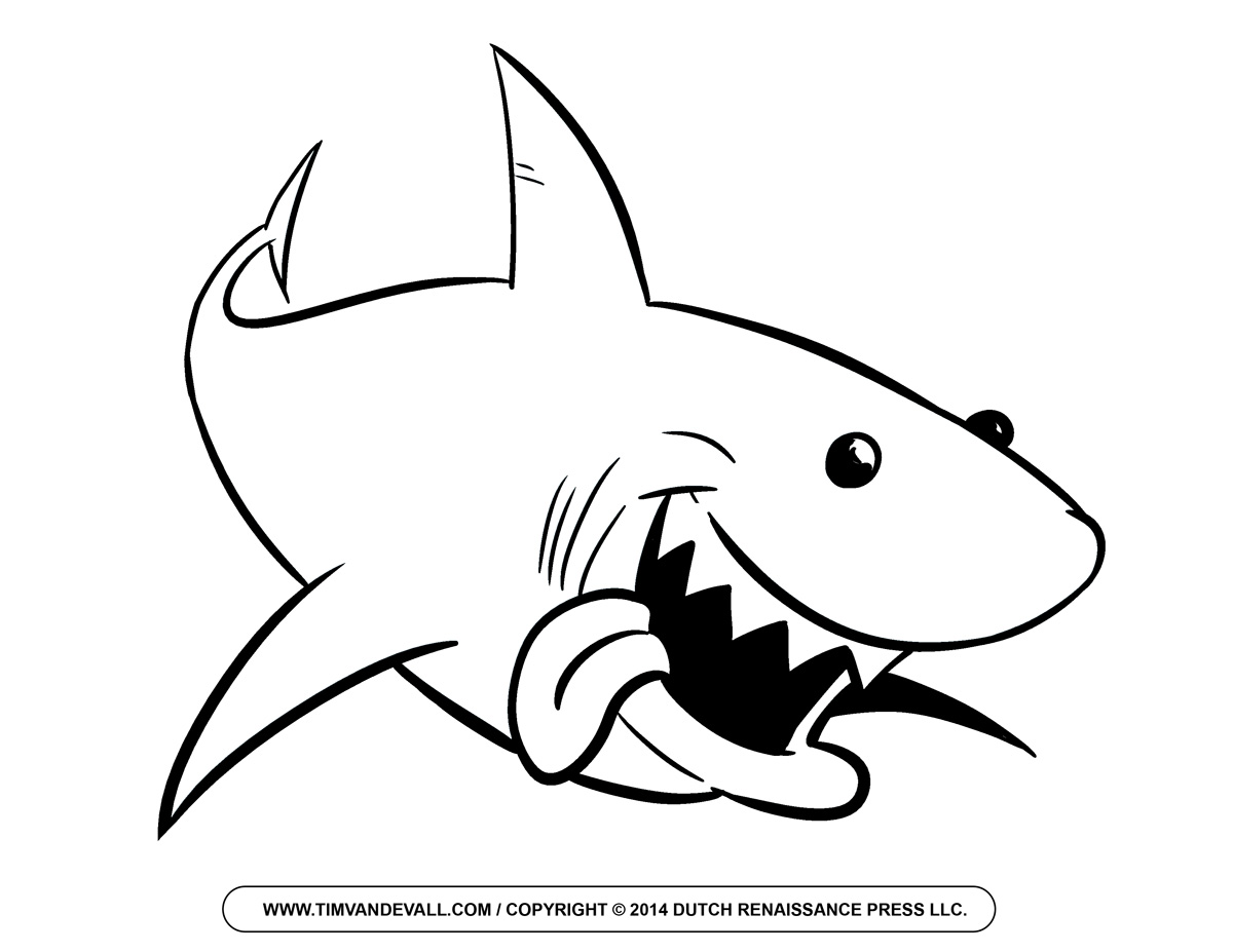 hammerhead shark outline clipart panda free clipart images