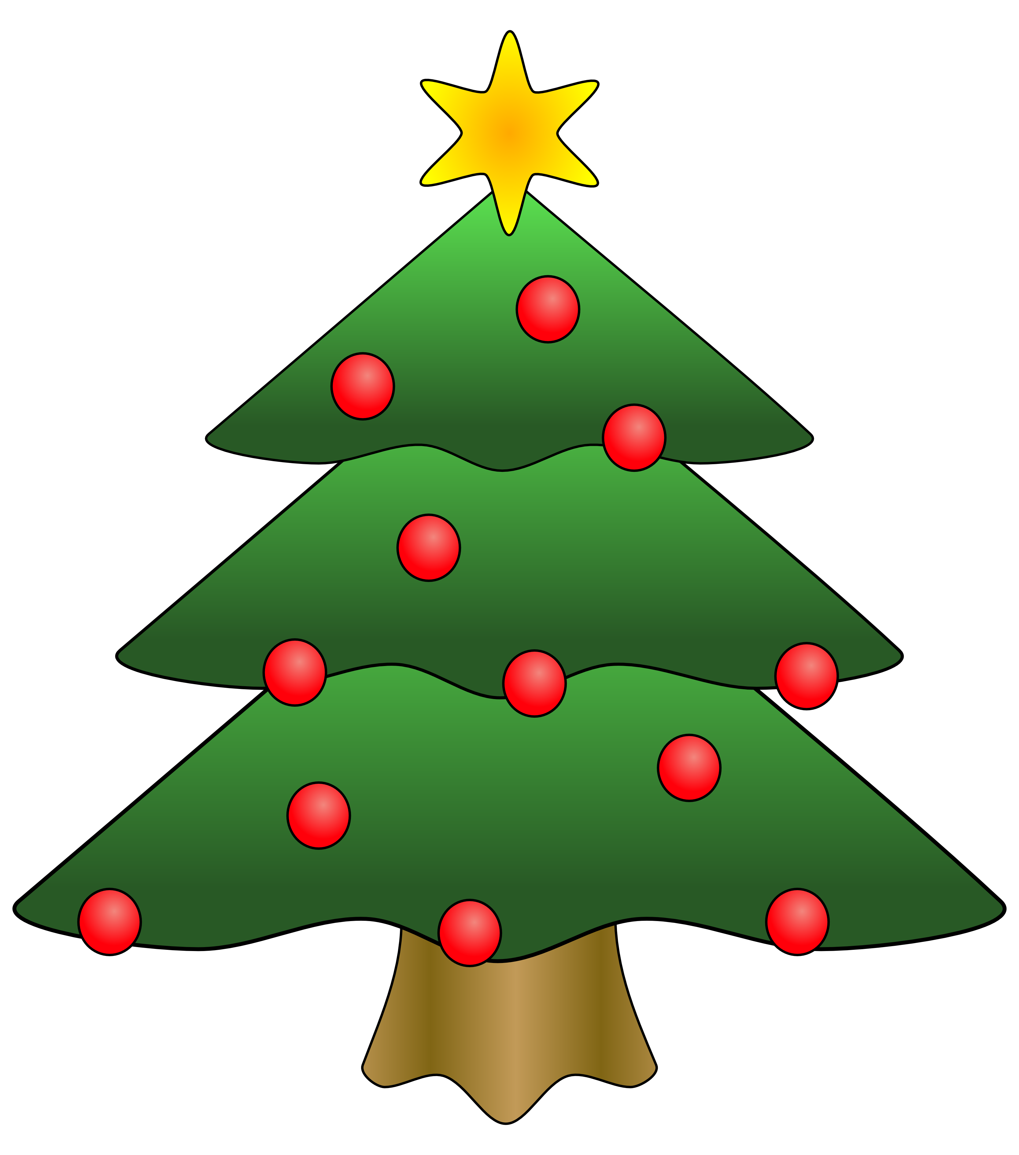 Clip art christmas tree with presents
