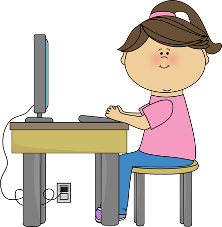 Kids On Computer Clip Art