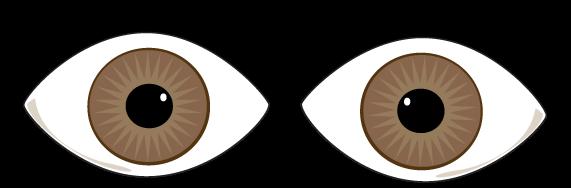 Eyes brown. Eye clip art clipart
