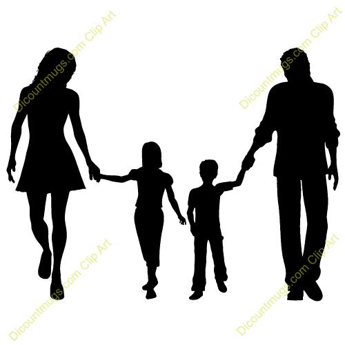Family Walking Clip Art