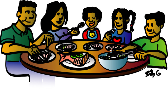Family meal clipart | Clipart Panda - Free Clipart Images