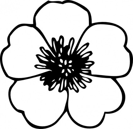 clip art flower black and white clipart panda free