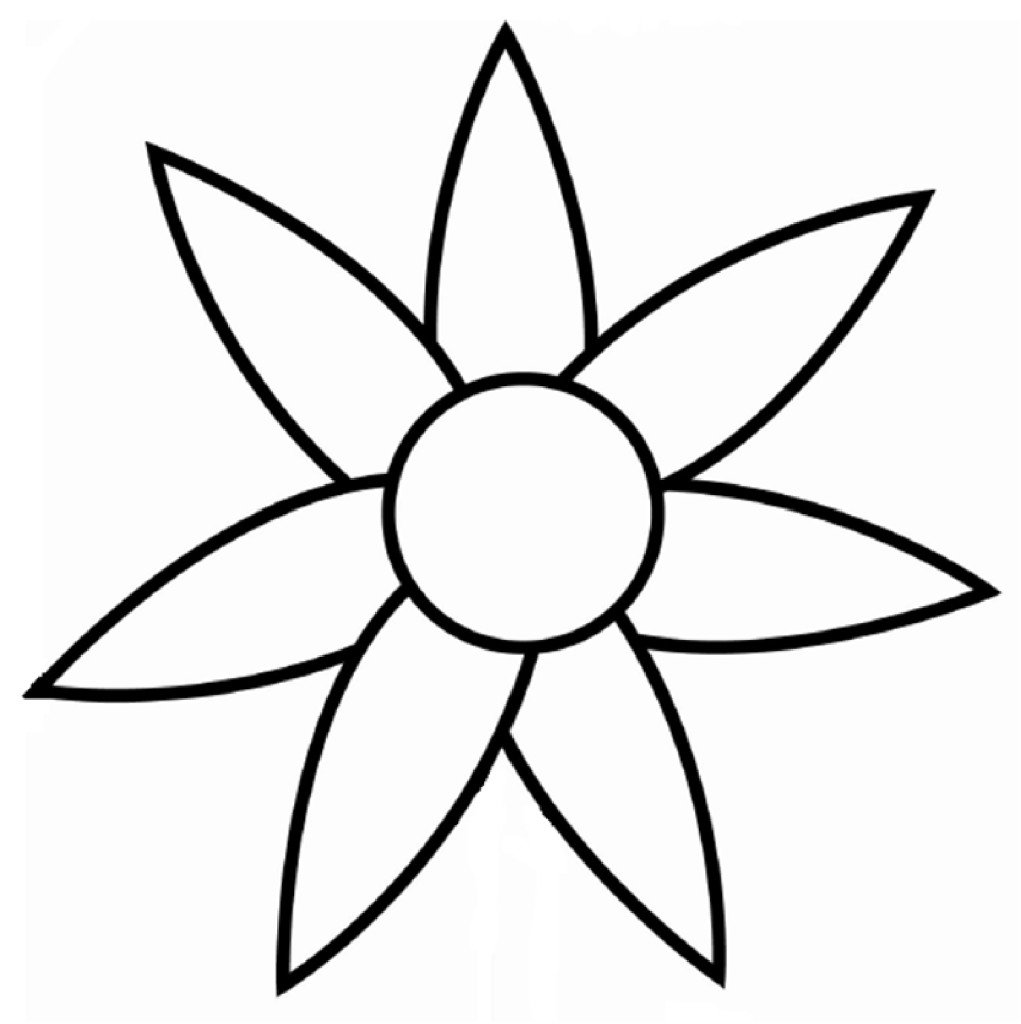 Flower Petals Line Drawing : Clipart flower outline panda free images