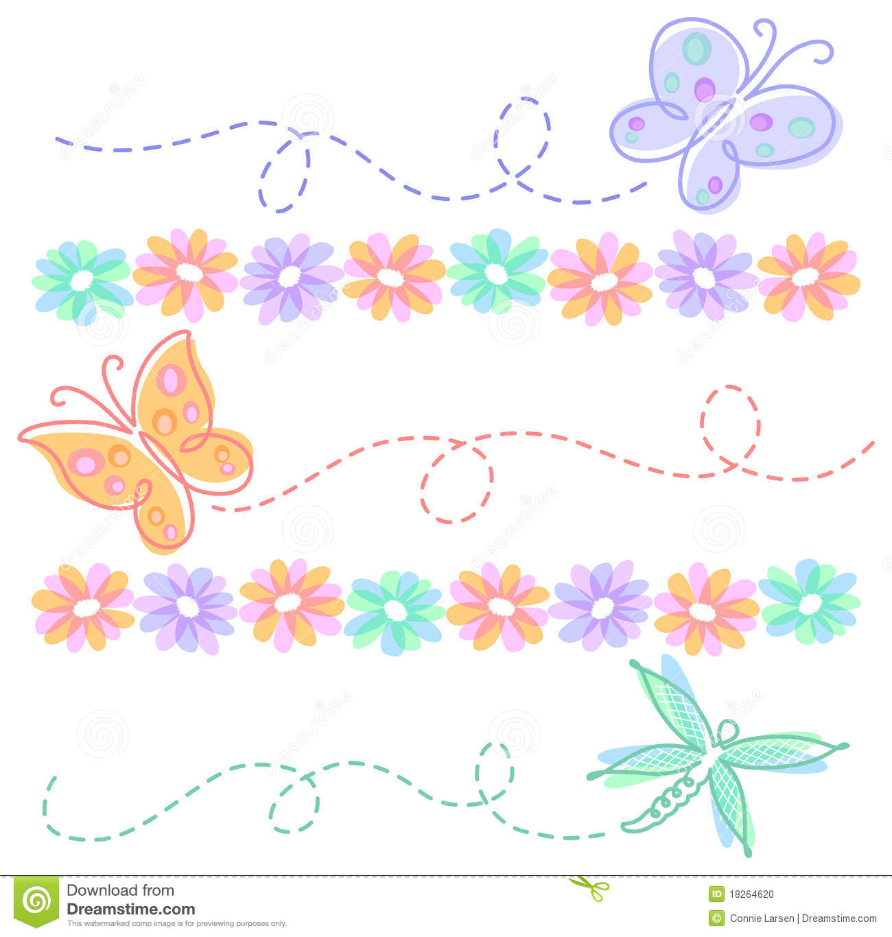 Cool Frame Clipart Flowers And Butterflies Border Clipart Panda