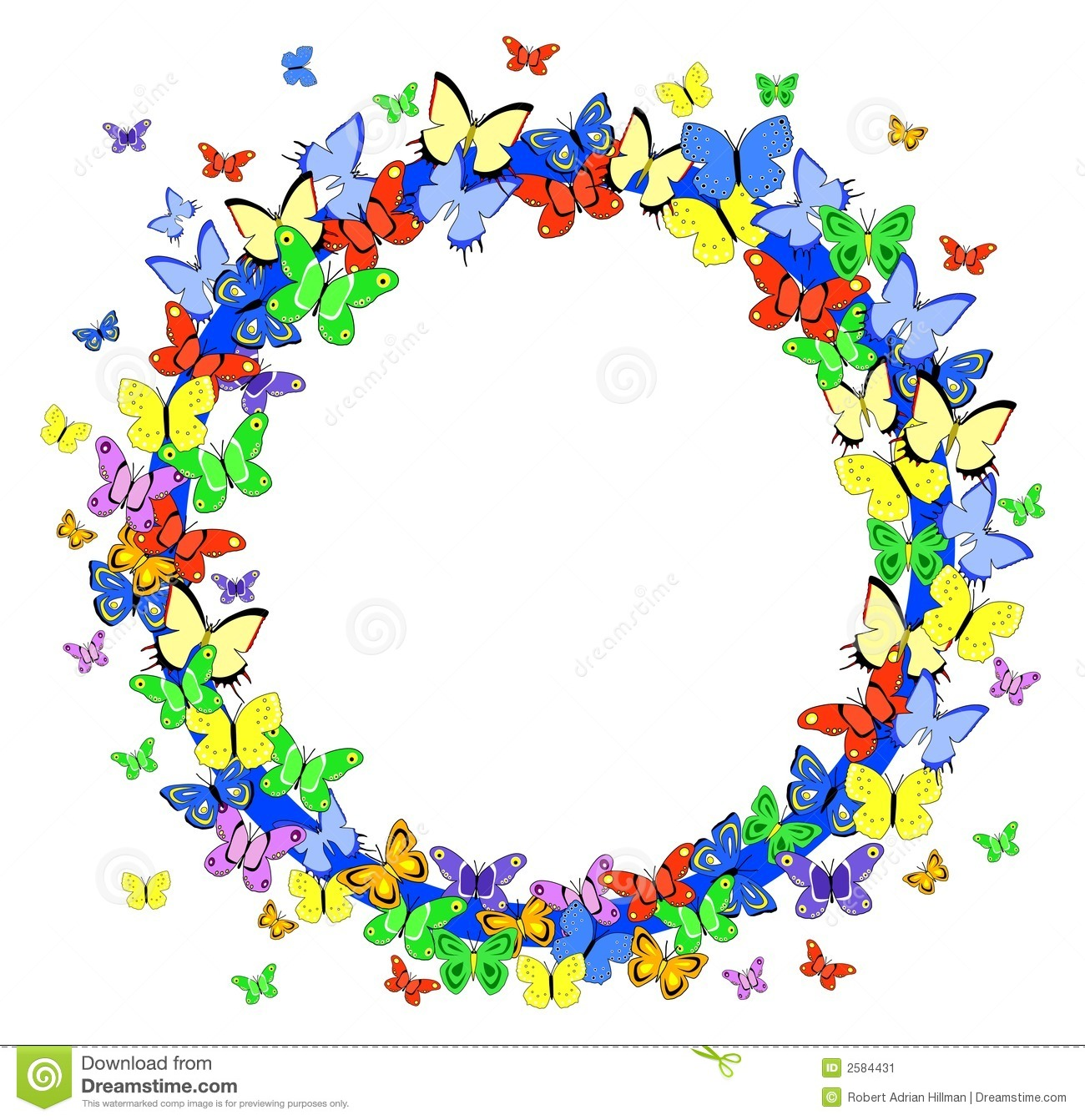 Clipart Flowers AndFlower And Butterfly Border Clip Art