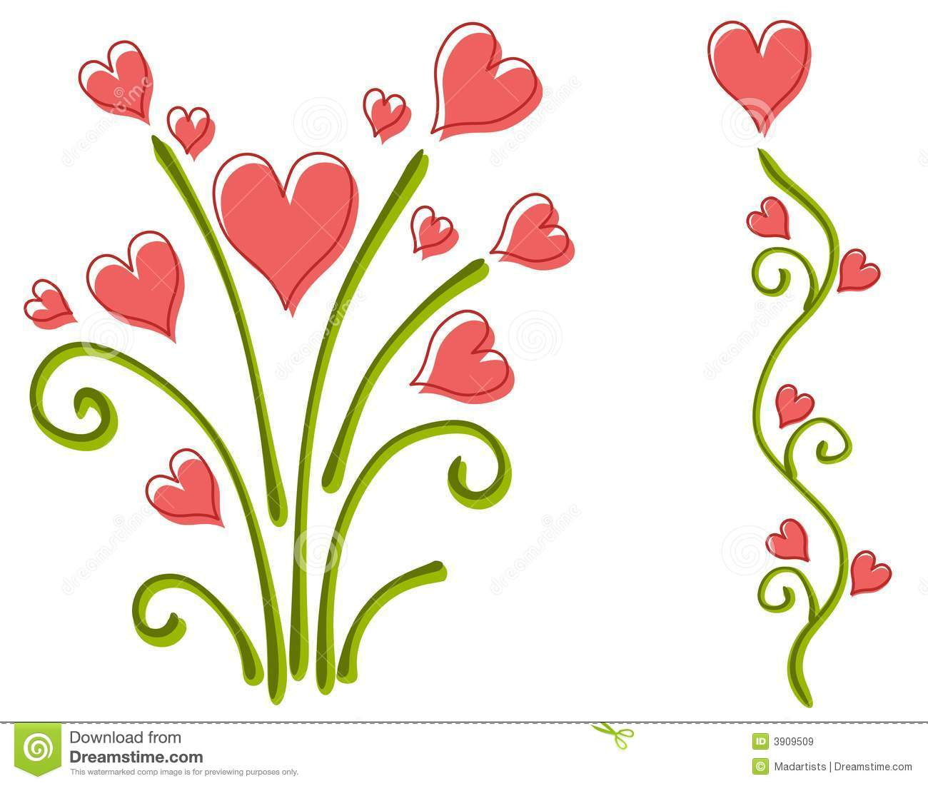 clipart flowers and hearts  clipart panda  free clipart images, Beautiful flower