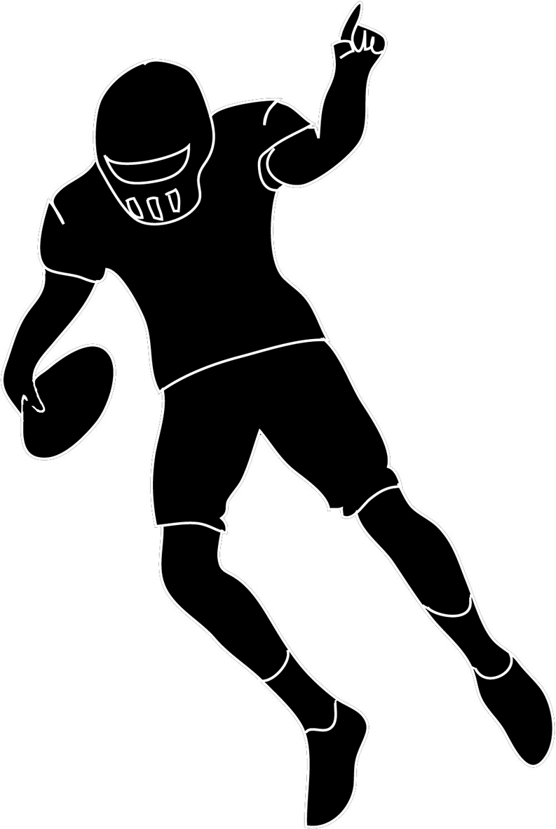 Clipart Football Player Defense | Clipart Panda - Free ...
