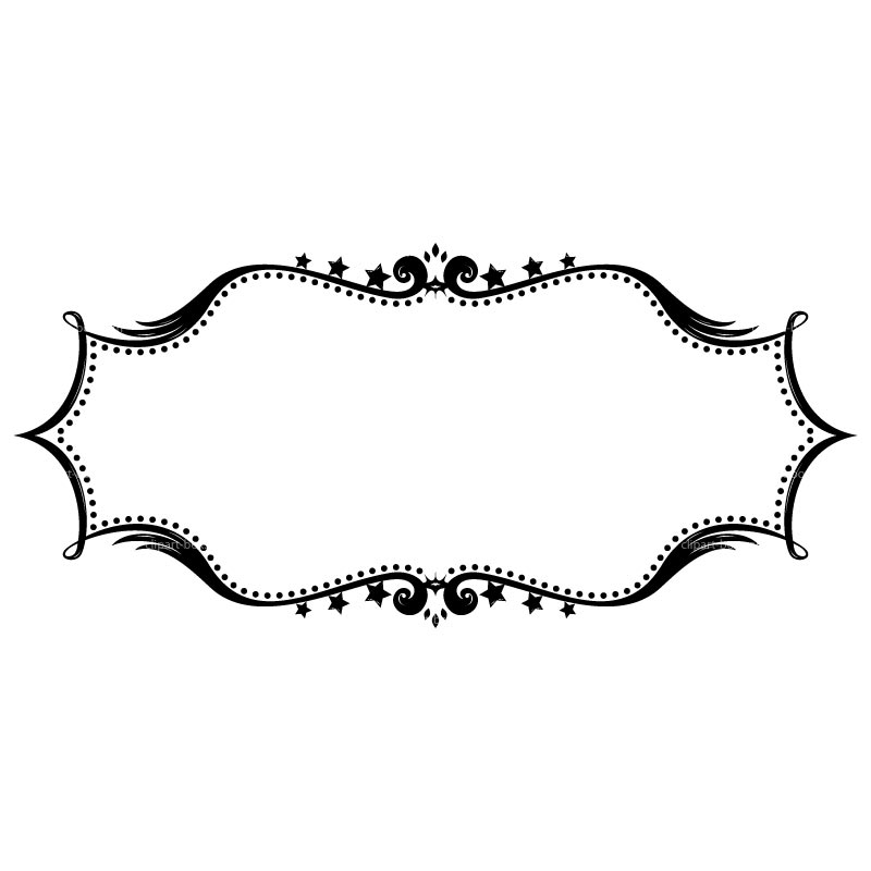Oval Frame Clipart Black And White