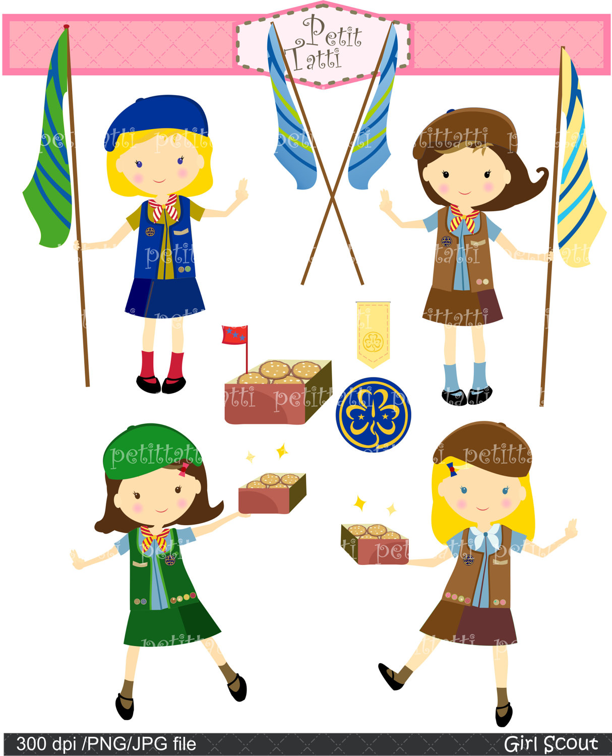 Girl Scout Camping Clipart clipart girl