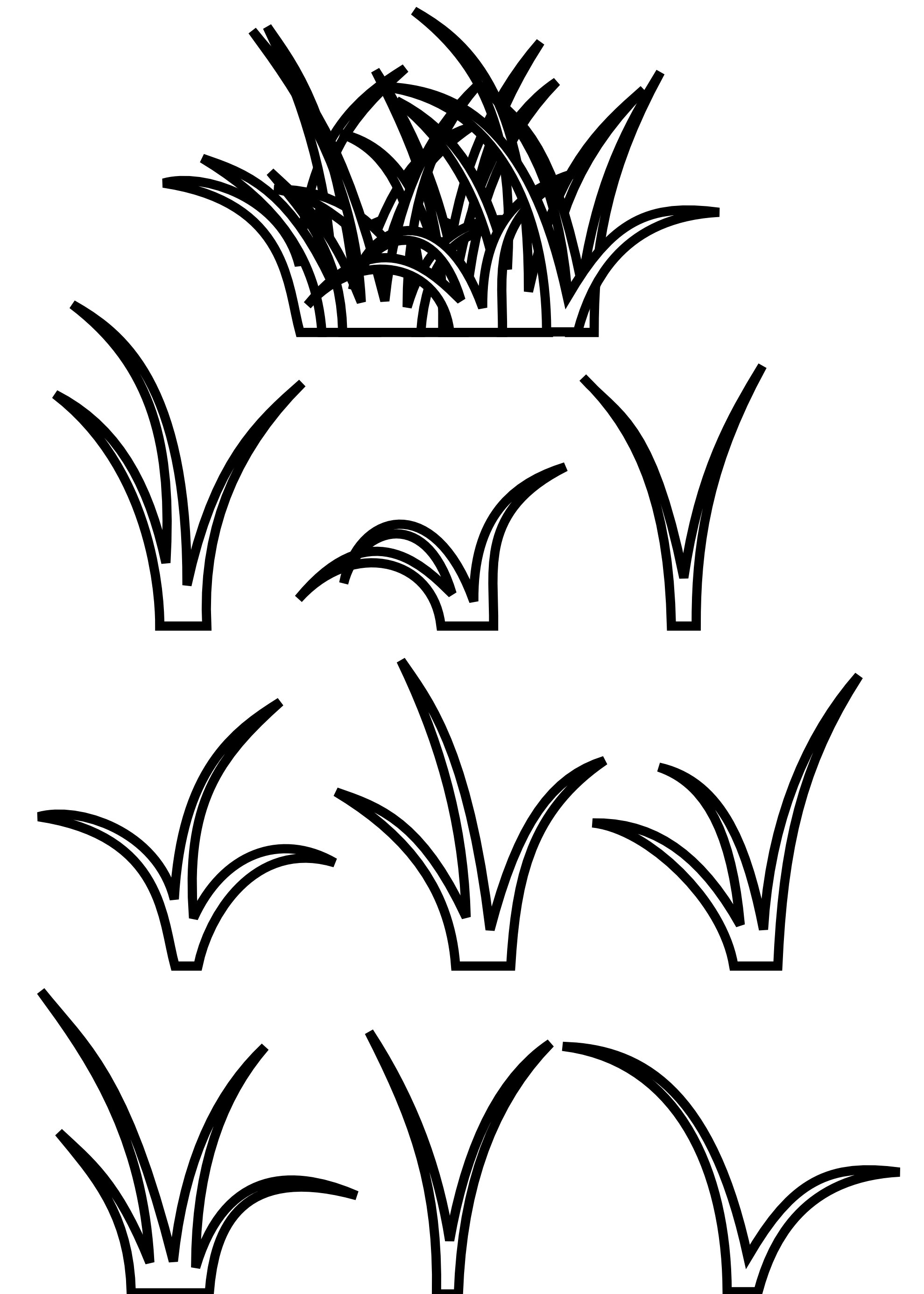 Line Art Vector Design Png : Clipart grass black and white panda free