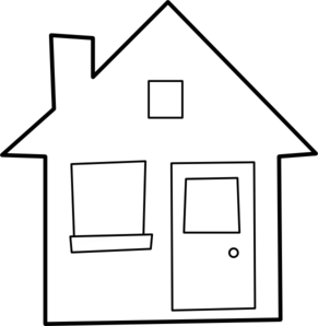 House Outline Clipart Black And White | Clipart Panda - Free ...