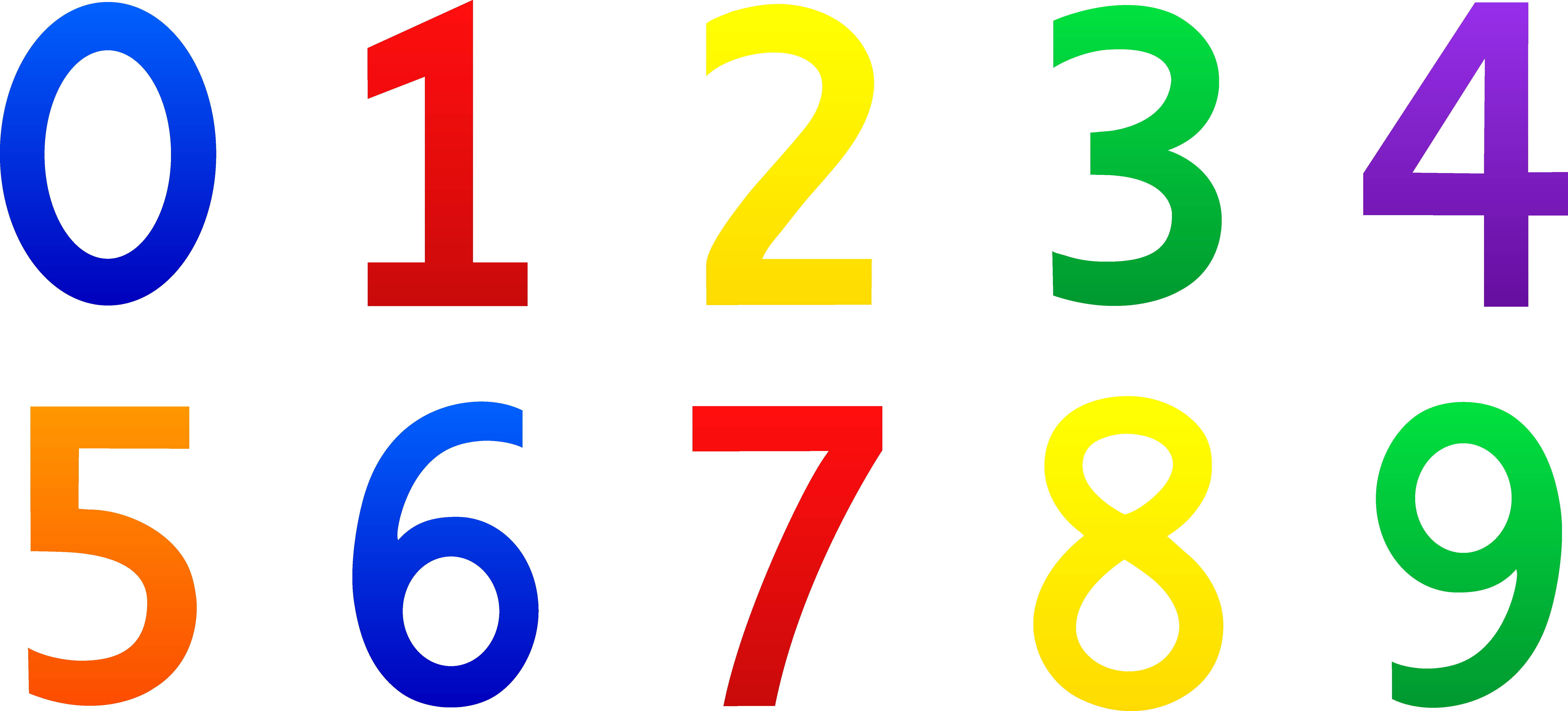 Numbers Clipart 0 | Clipart Panda - Free Clipart Images