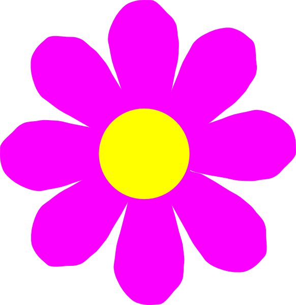pink flower clip art | Clipart Panda - Free Clipart Images