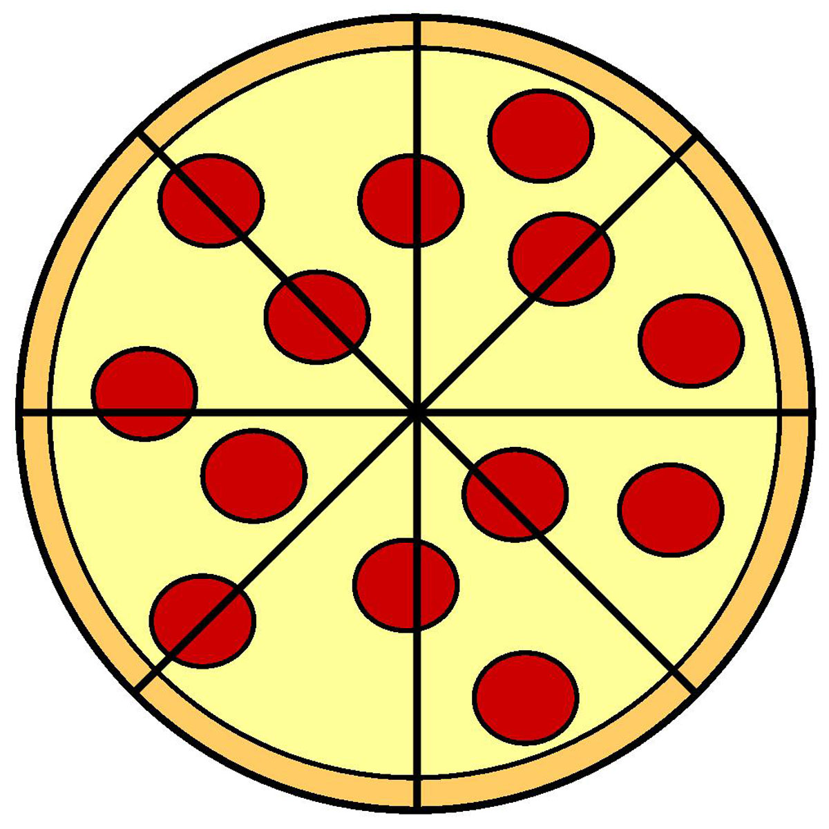 clipart pizza  Food Plate Clipart