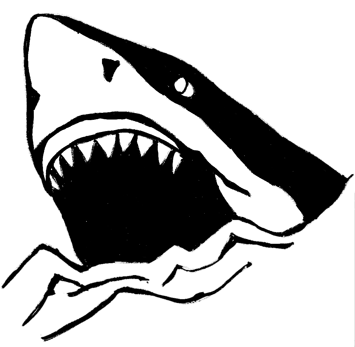 Shark Clip Art Black And White | Clipart Panda - Free ...