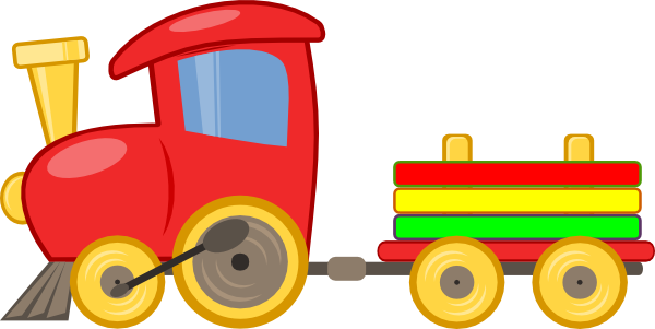 Toy Train Graphics : Cute toy train clip art clipart panda free images