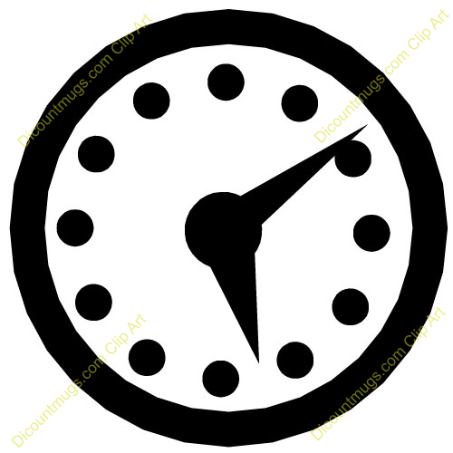 clock clipart black and white free - photo #9