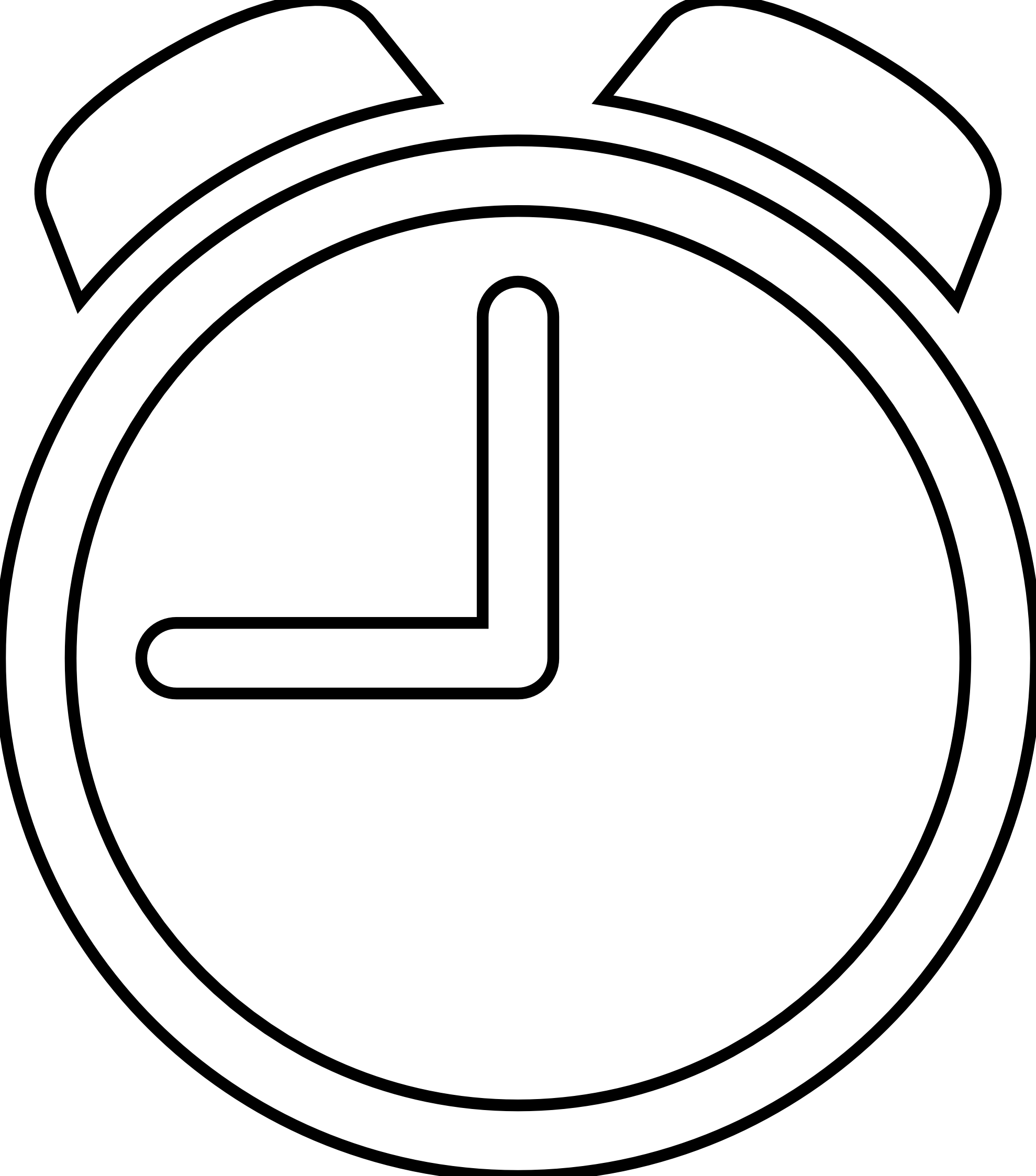 Line Drawing Icons : Clock clipart black and white panda free