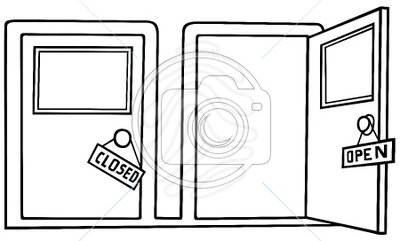 Open Closet Clipart