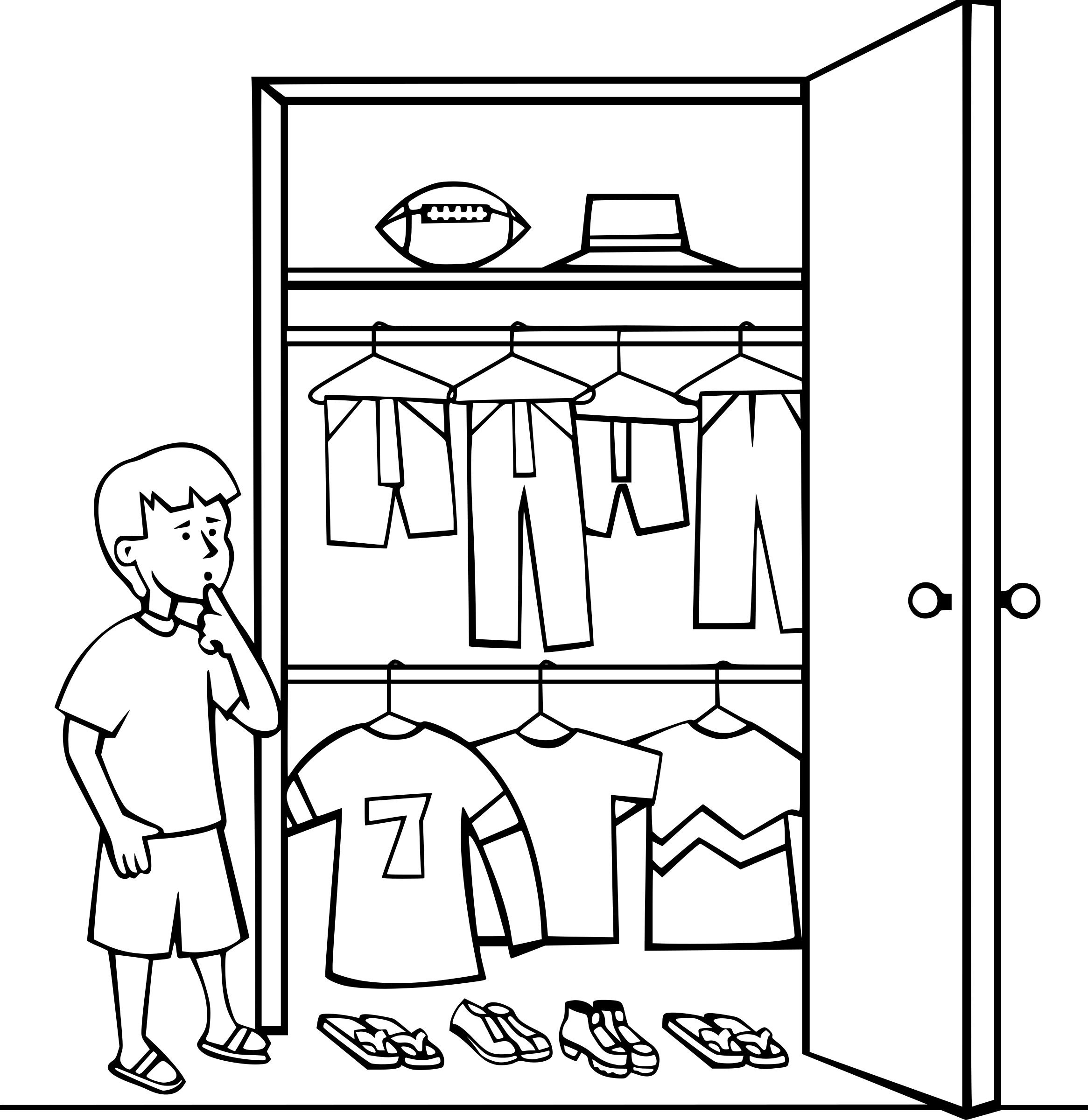 Wardrobe clipart black and white tentfox