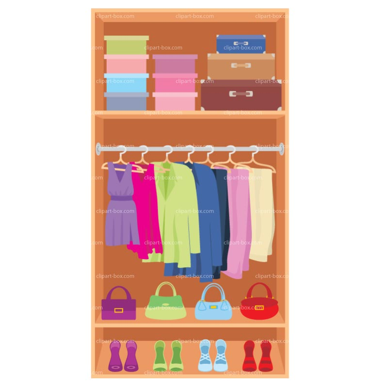 go back gallery for open wardrobe clipart