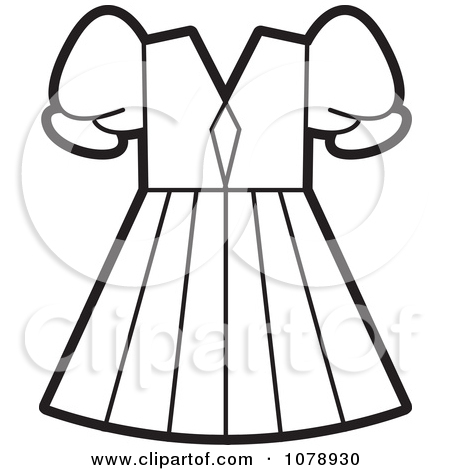 8f5eaf898bb0 Little Girl Dress Clipart Black And White