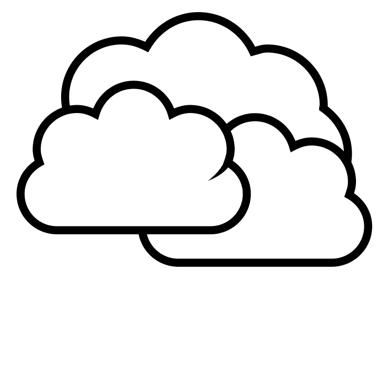 Cloud Clip Art Outline Clouds clip art