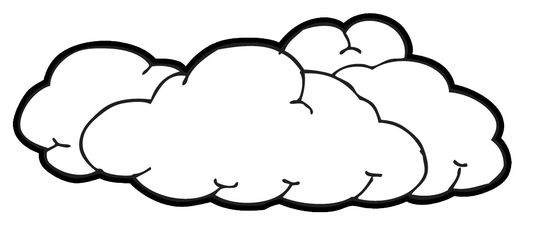 Clouds Clip Art Black And White | Clipart Panda - Free Clipart Images