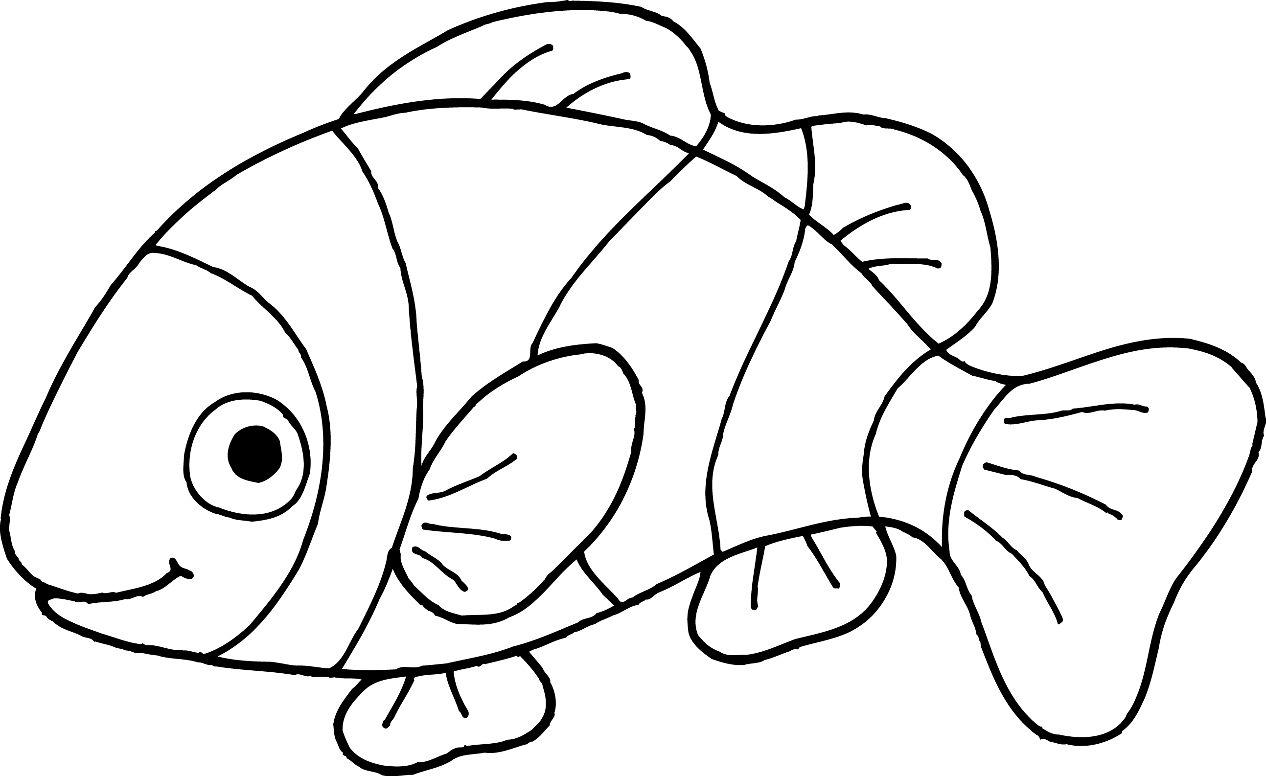 Line Drawing Of Fish : Clown fish clipart panda free images