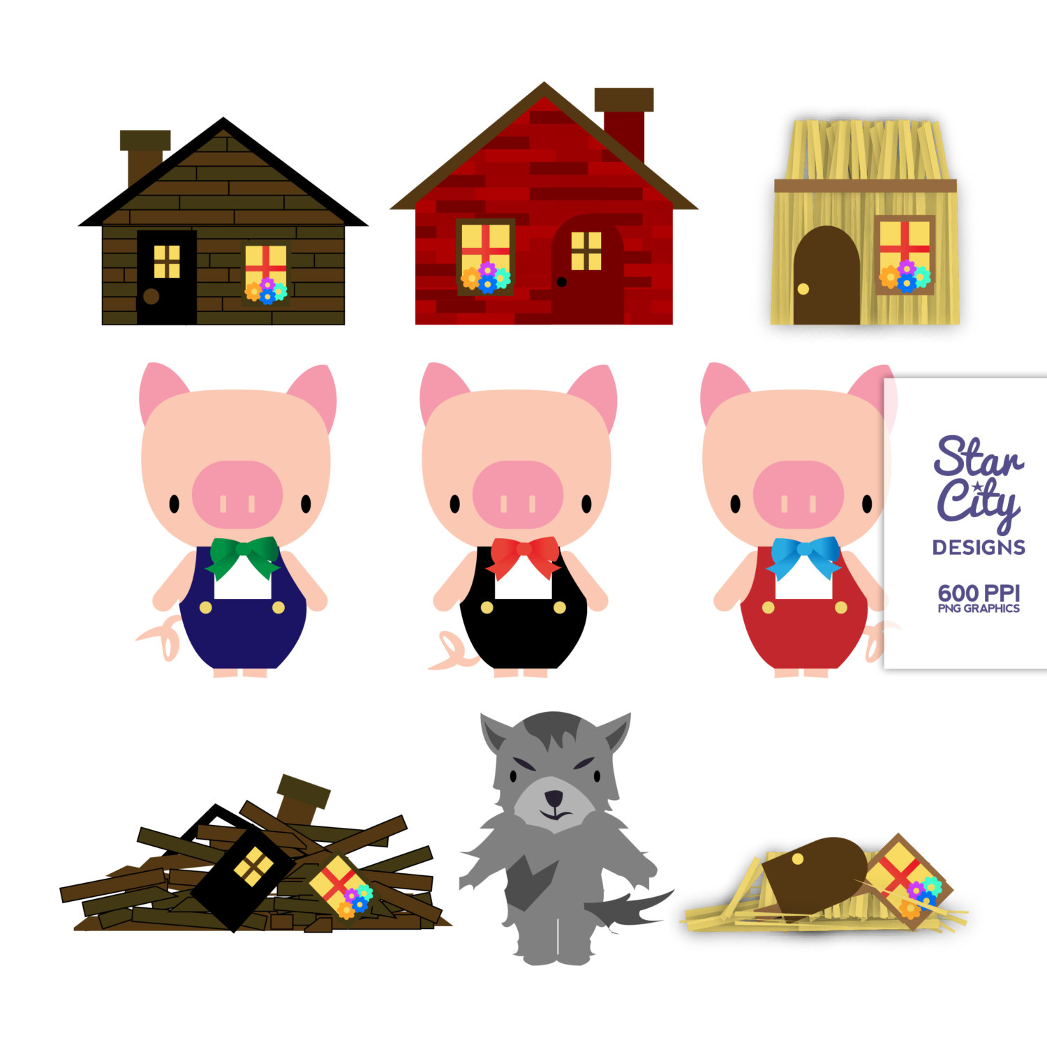 Google Clip Three Little Pigs Pictures to Pin on Pinterest - PinsDaddy