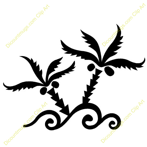 Coconut Tree Leaves Clip Art