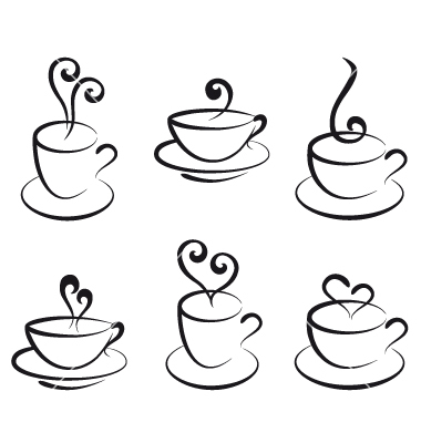 Coffee Cup Vector Black And White